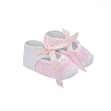 Girls White &  Chalk Pink Pre-Walker Shoes