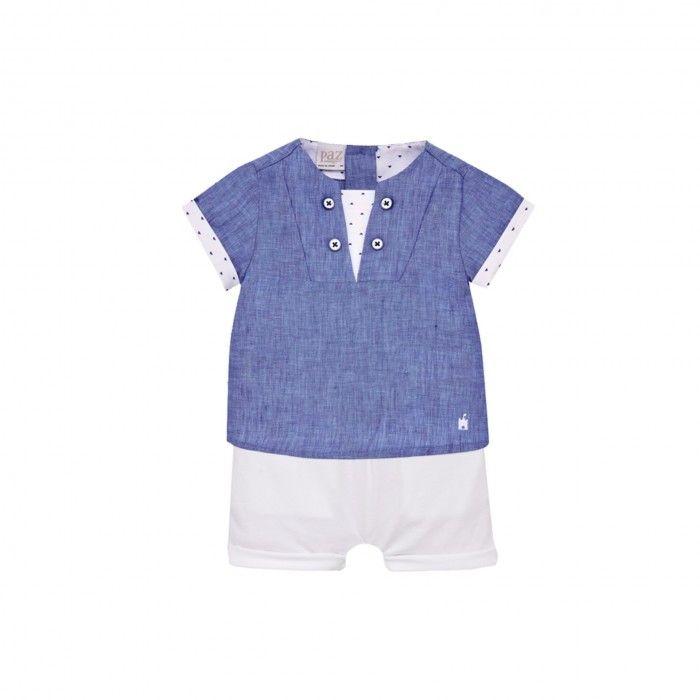 Baby Boys Blue & White Set