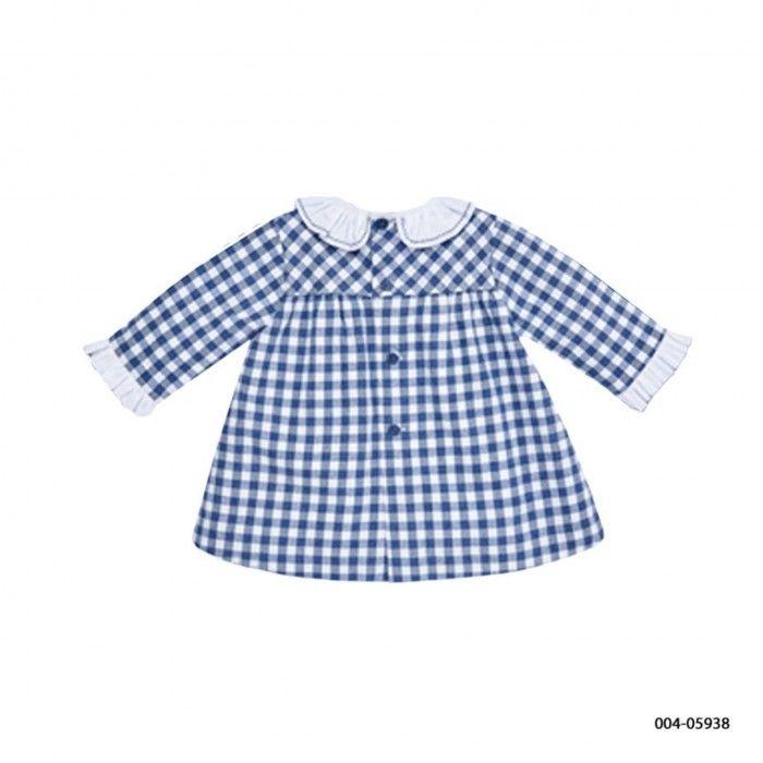 Blue Baby Check Dress