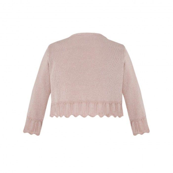 Girls Pink Cotton Cardigan