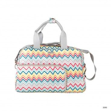 African Routes Zig-Zag Maternity Bag + Nappy Changer