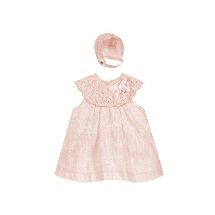 Pink Dress & Bonnet