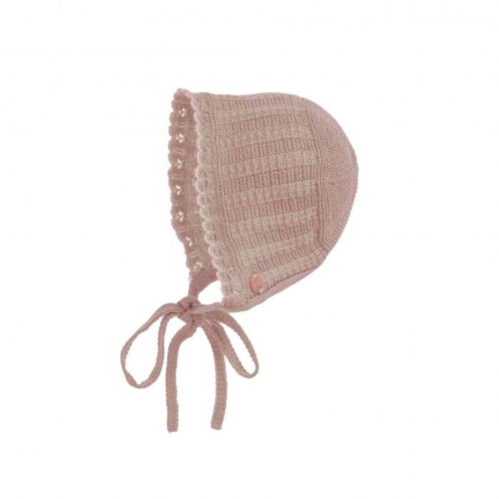 Mist Pink Knitted Bonnet