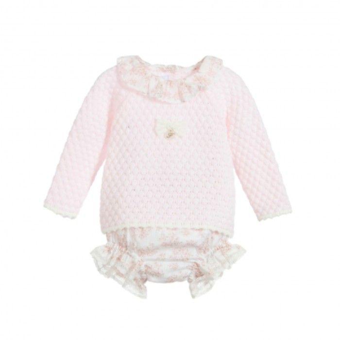 Pink Floral Shorts Set