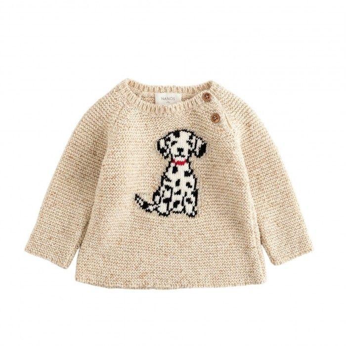 Boys Beige Dalmatian Sweater