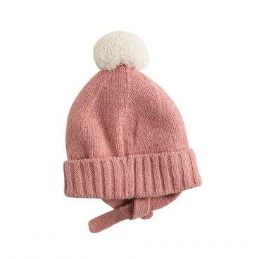 Pink Cashmere Pom-Pom Hat
