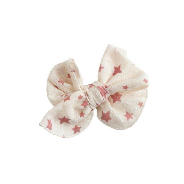 White & Pink Bow Hair Clip