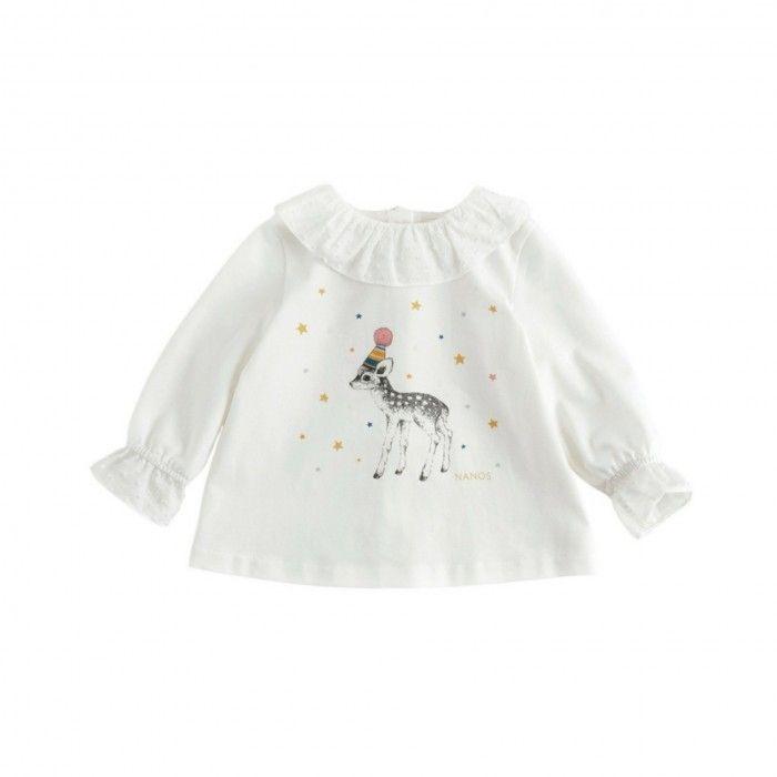 White Bamby Cotton T-Shirt