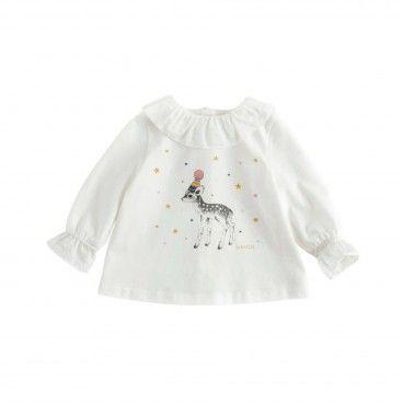 T-shirt Algodão Bamby Menina