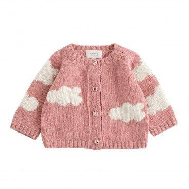 Nanos Pink Cloud Cardigan