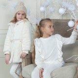 Conjunto Menina Branco & Dourado