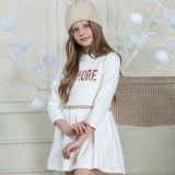 Vestido Algodão Branco & Dourado
