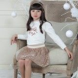 Patachou Gold Sequin Skirt