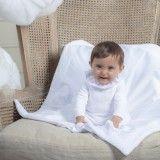 Manta Bebé Branca Acolchoada