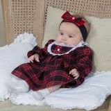 Vestido Bebé Vermelho Tartan