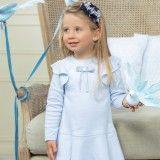 Vestido Menina Algodão Azul