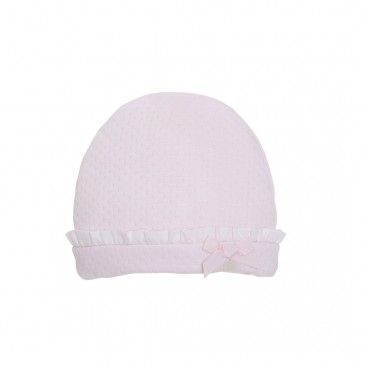 Pink Cotton Velour Hat