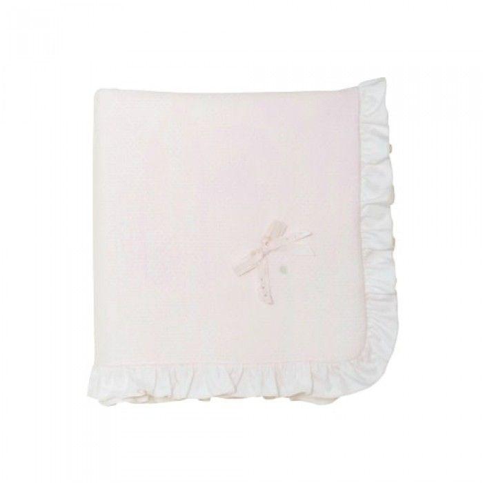 Patachou Pink Cotton Blanket