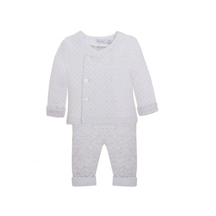 Baby Boys Grey Trousers Set