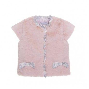 Colete Pelo Rosa Bebé Menina