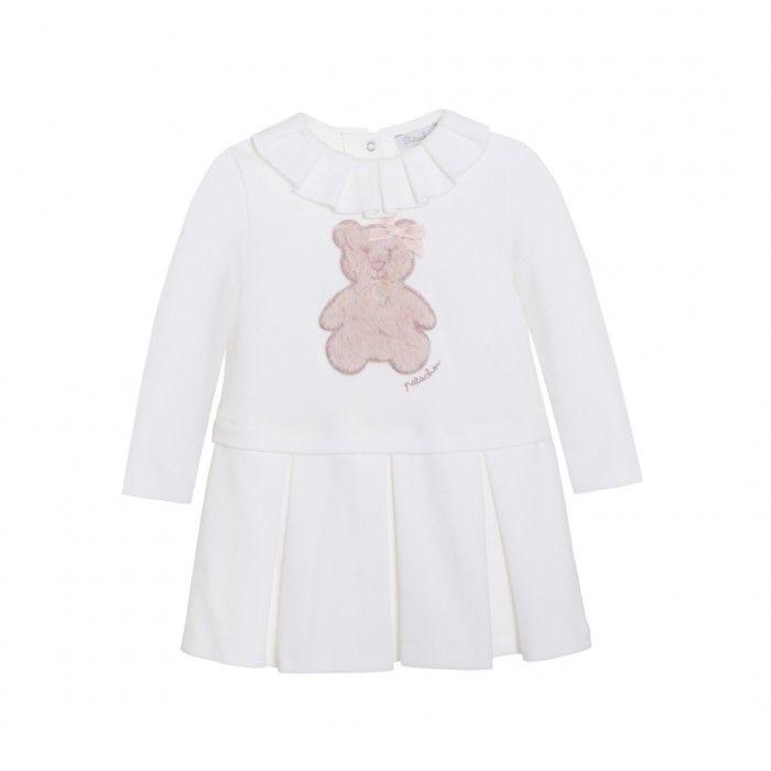 Vestido Bebé Branco & Rosa