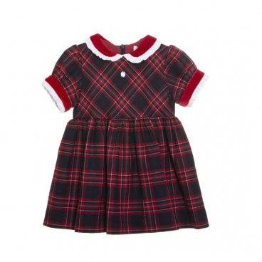 Vestido Menina Vermelho Tartan