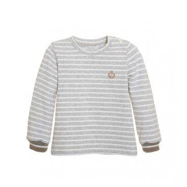 Grey Striped Cotton Shirt
