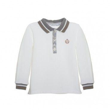 White & Grey Polo Shirt