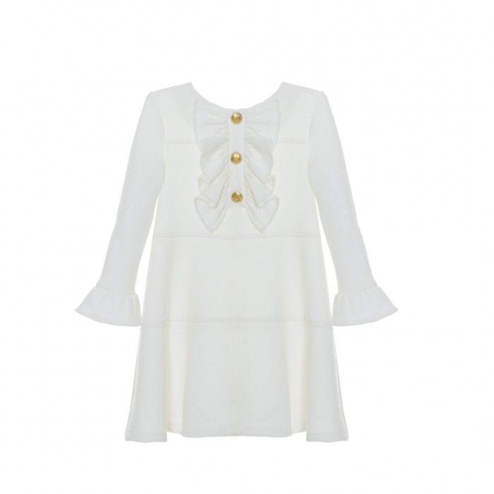 Patachou Ivory Ruffle Dress