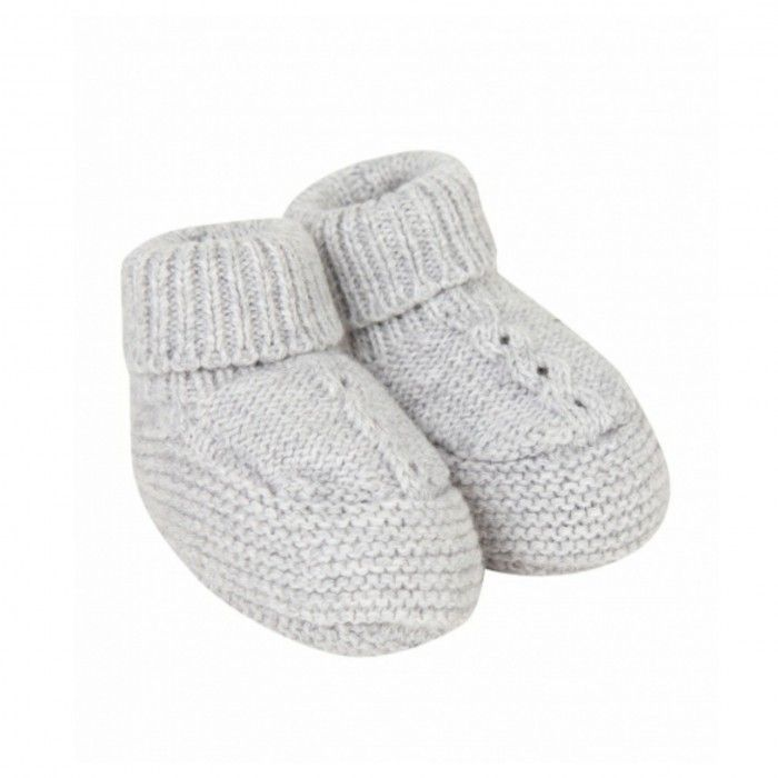 Light Grey Knit Bootees