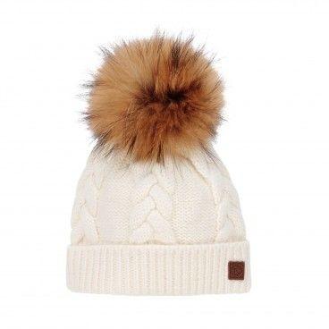 Pearl Cotton & Wool Pom-Pom Hat