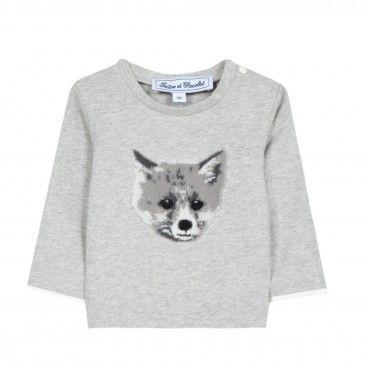 Grey Marl Fox T-Shirt