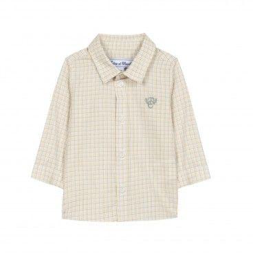 Boys Yellow Check Shirt