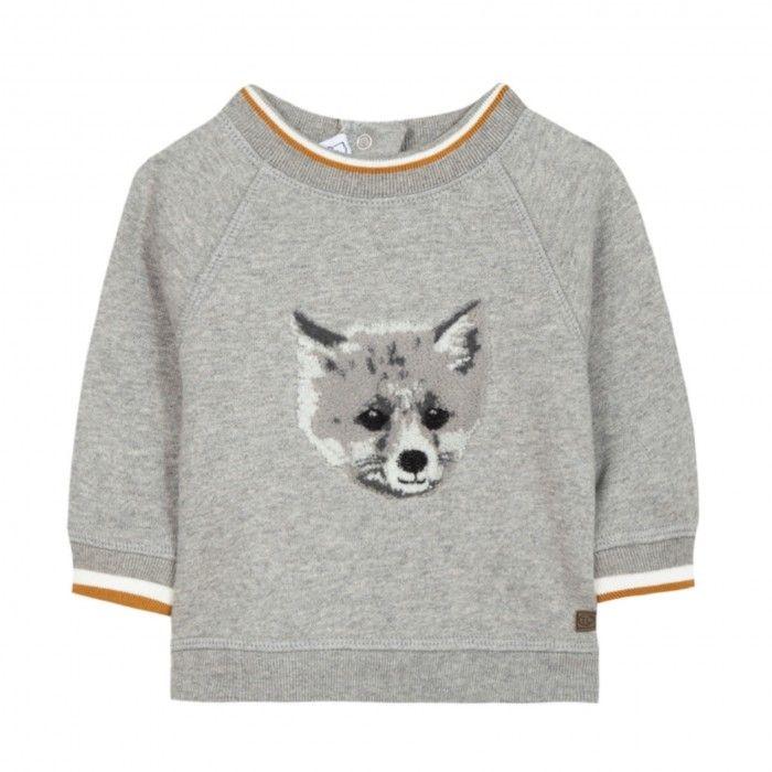 Sweat Cardada Grey Fox