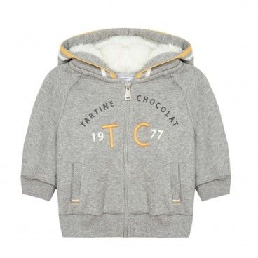 Grey Fleece Sweatshirt Jacket
