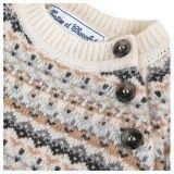 Boys Beige Merino Wool Sweater