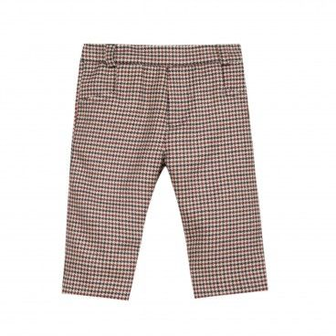 Navy & Red Checked Trousers