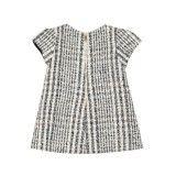 Vestido Xadrez de Lã Tweed