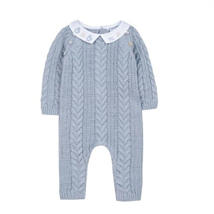 Frosted Blue Kniited Jumpsuit