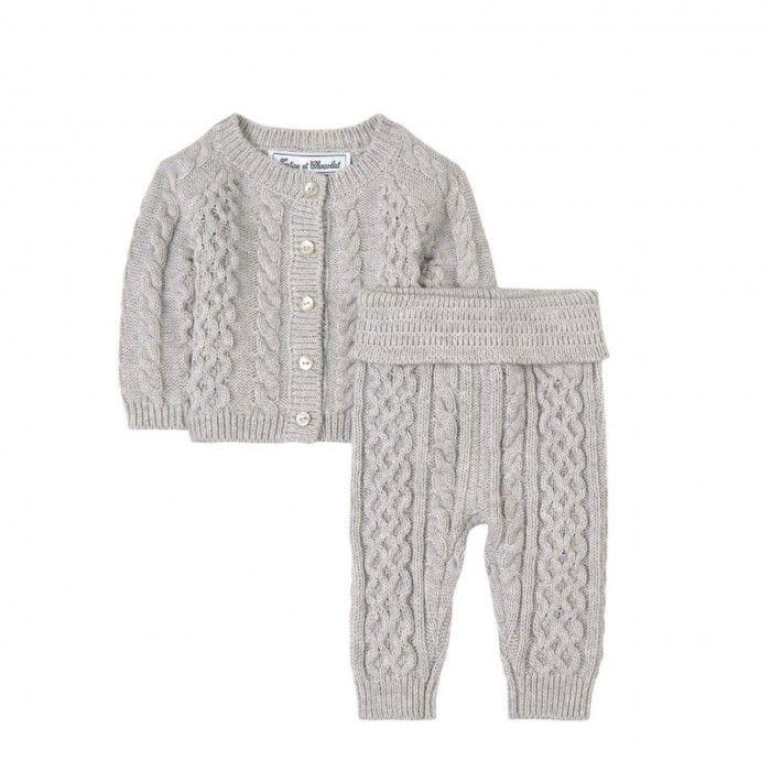 Light Grey Cardigan Set