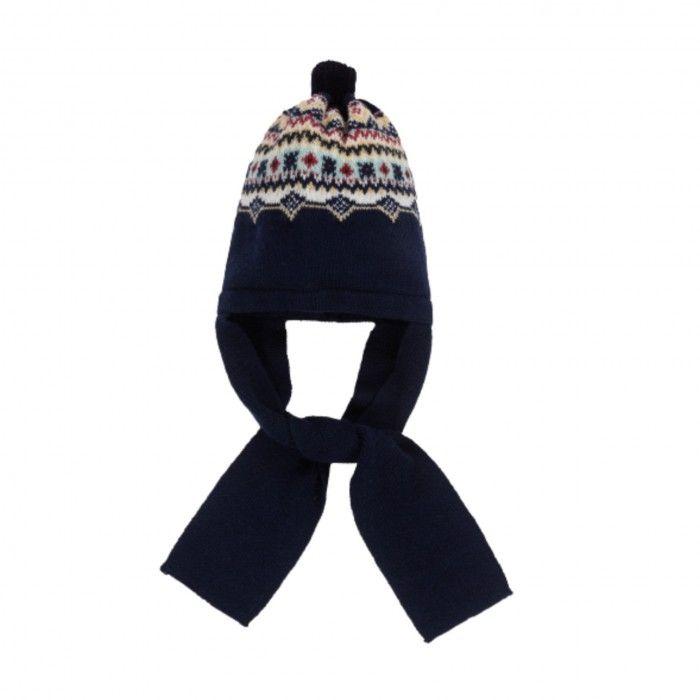 Blue Navy Jacquard Hat