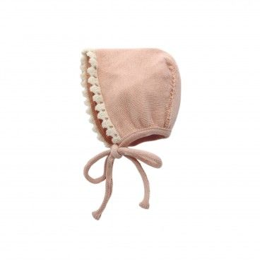 Pale Pink Knitted Bonnet