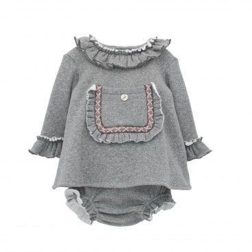 Baby Girls Grey Dress Set