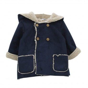 Blue Navy Faux Suede Coat
