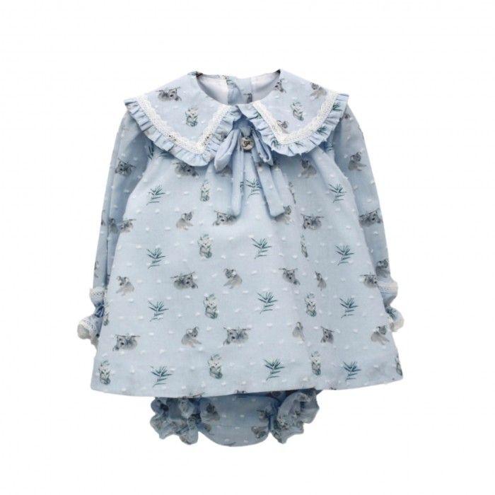 Pale Blue Dress Set