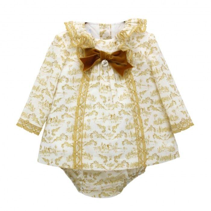Mustard Yellow & Ivory Dress Set