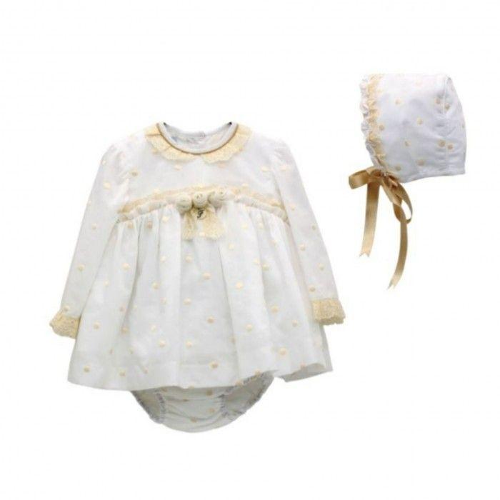 Ivory & Beige Dress Set
