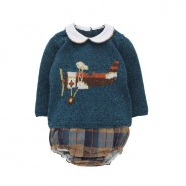 Baby Boy Tartan Shorts Set