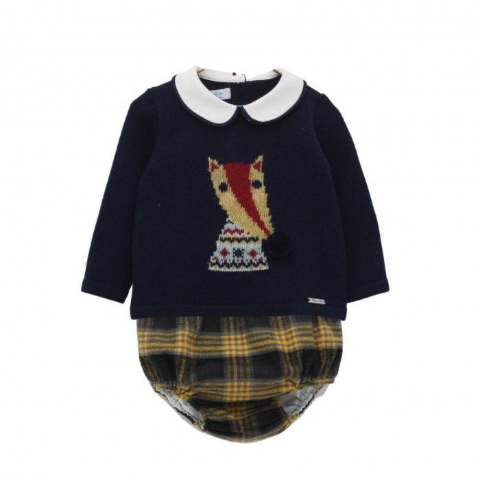 Baby Navy & Mustard Shorts Set