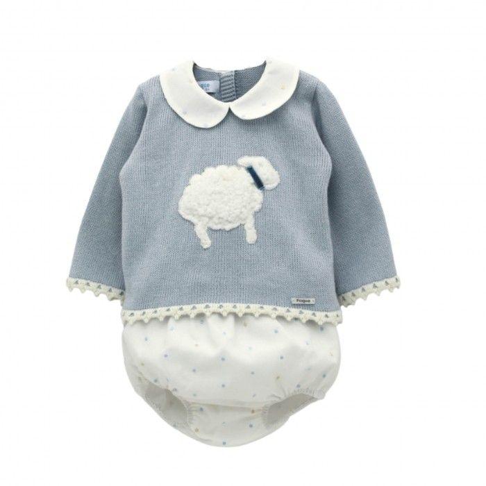 Pale Blue Sweater & Knickers Set
